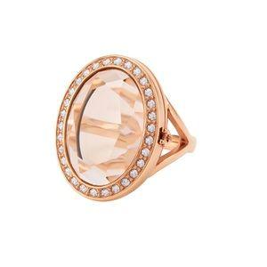 ROSE GOLD BLUSH LOCKET RING W/SWAROVSKI CRYSTALS